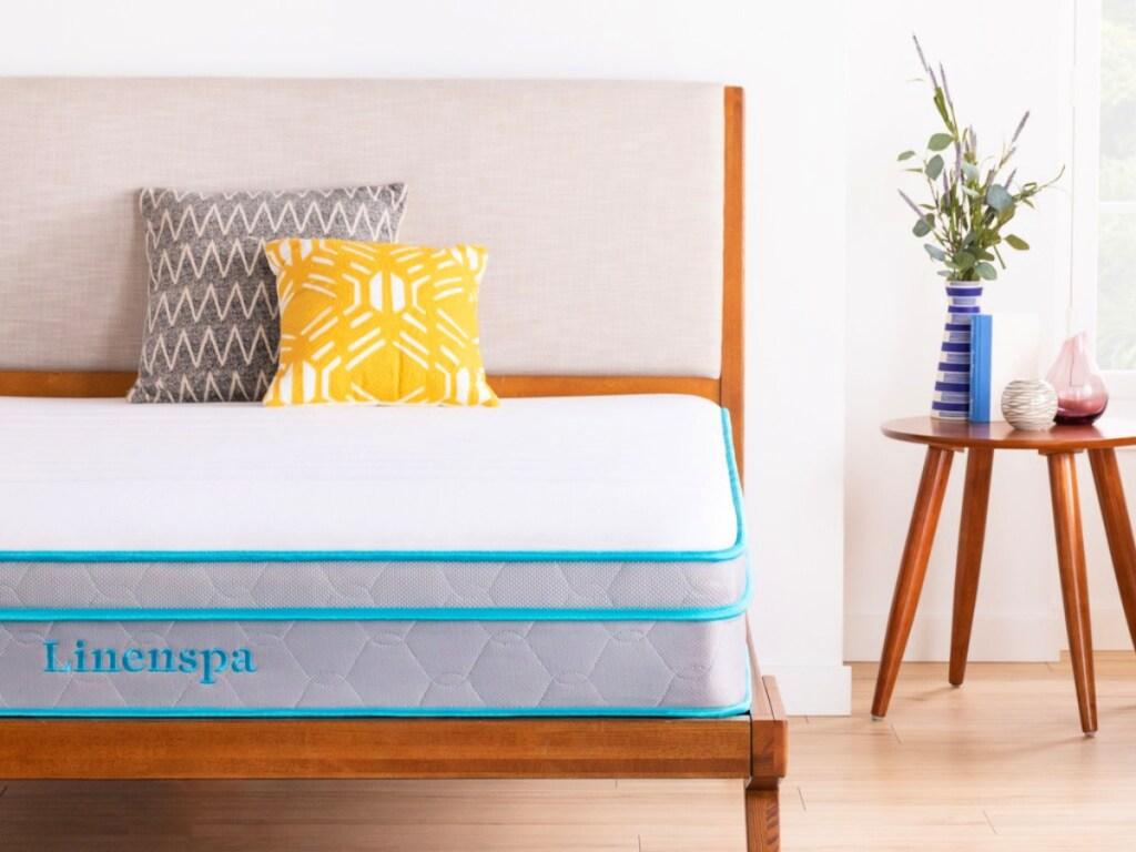 linenspa mattress in bedroom