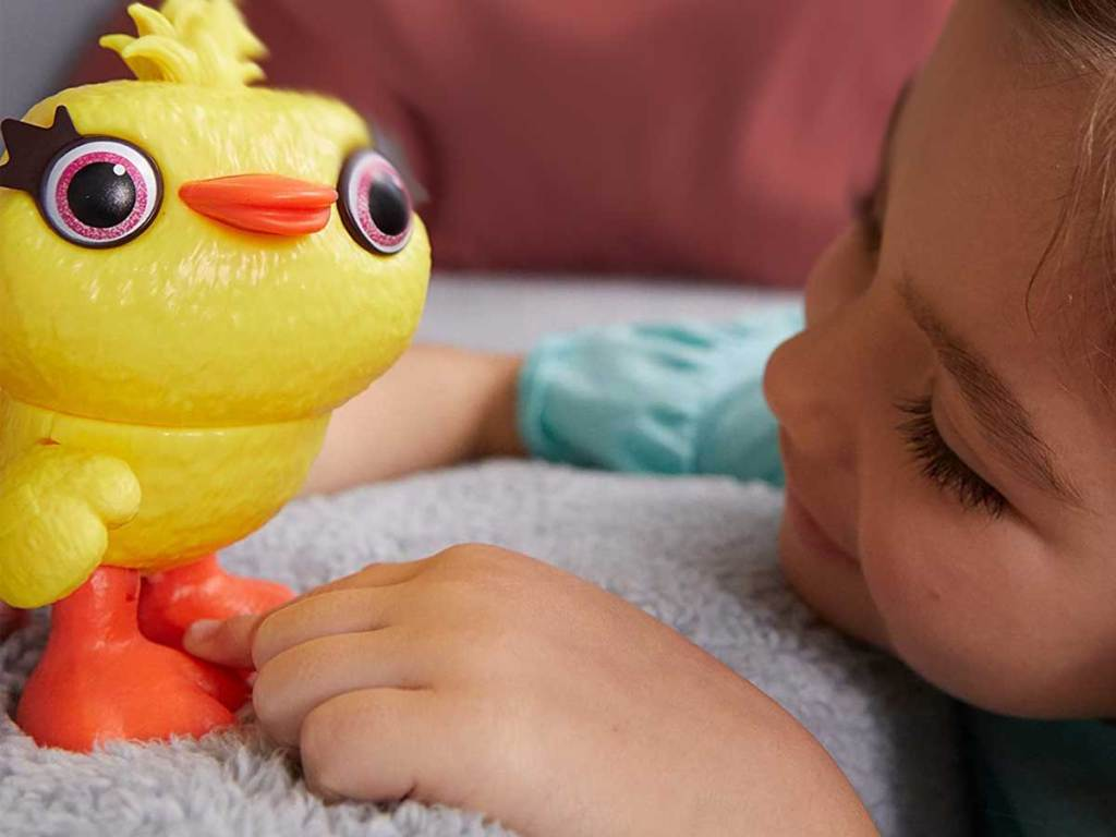 disney pixar ducky - girl playing with it