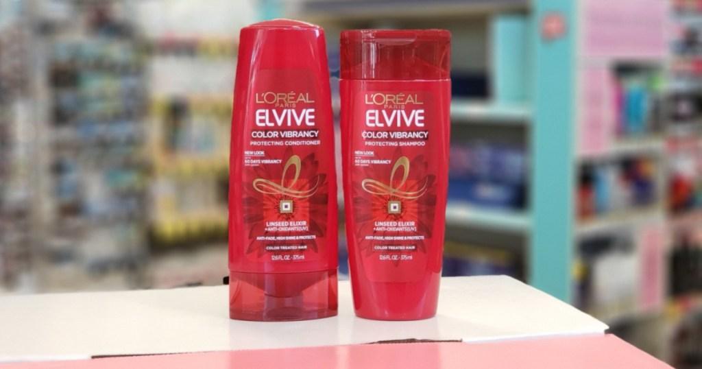 l'oreal paris elvive color vibrancy shampoo and conditioner
