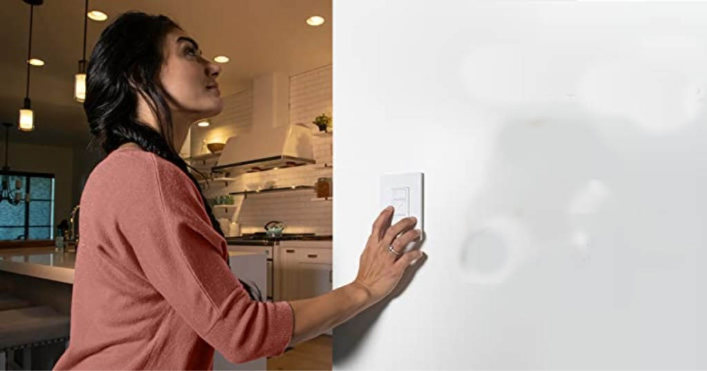 lutron caseta smart switch with lady