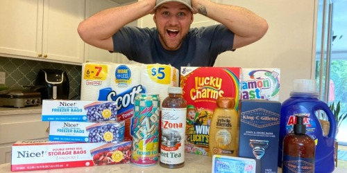 Stetson Scored 14 Items at Walgreens for Only $19.54 | Paper Towels, Cereals, Razor, Detergent & More