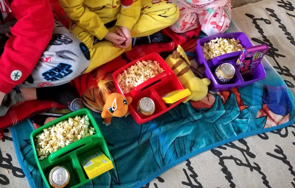 movie snacks in classroom caddies