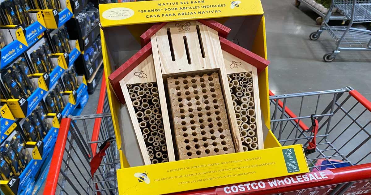 native bee barn in a cart