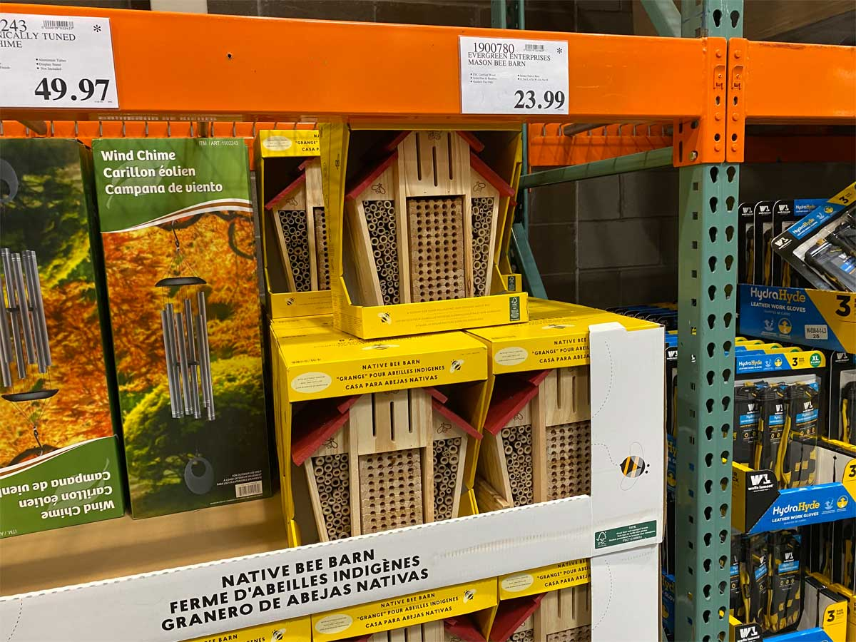 native bee barn on a shelf in a store