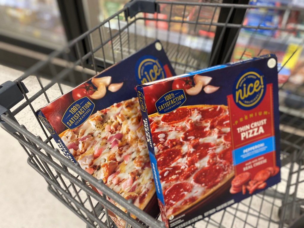 nice! pizzas in shopping cart