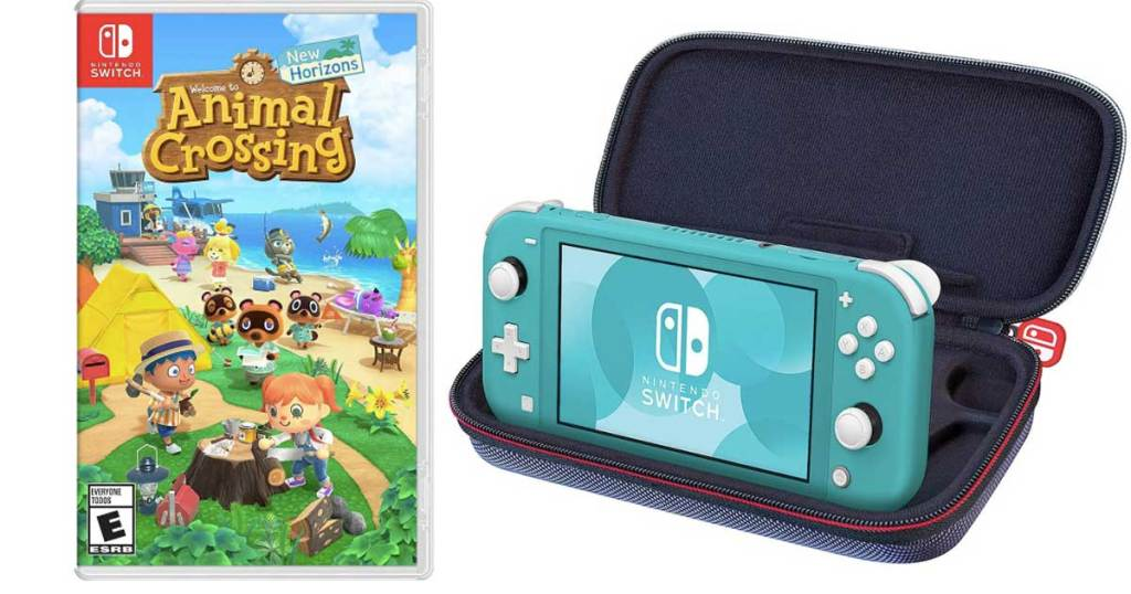 Nintendo Switch Lite W Animal Crossing Travel Case Just 279 99