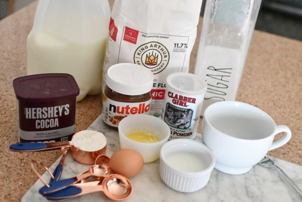 nutella mug cake ingredients