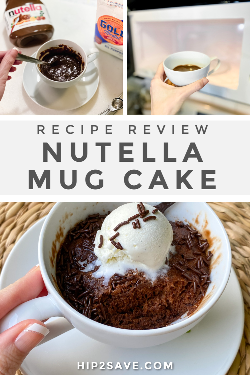 Easy 3-Ingredient Nutella Mug Cake Recipe (Microwaves in 1 ...