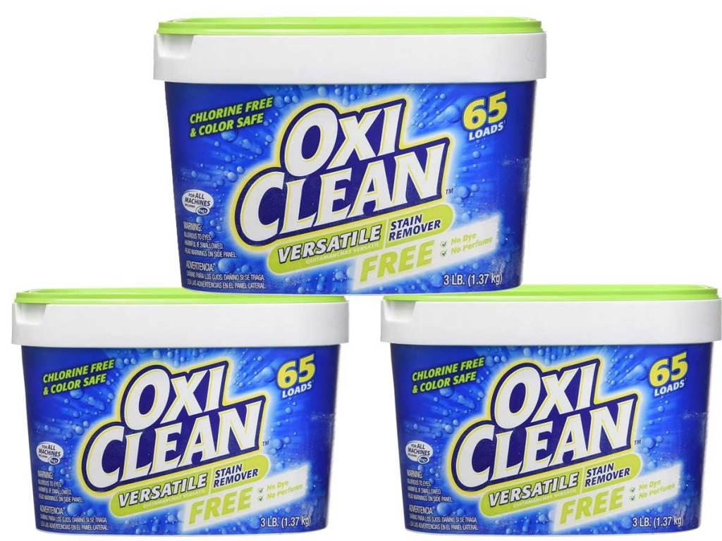 oxiclean three tubs