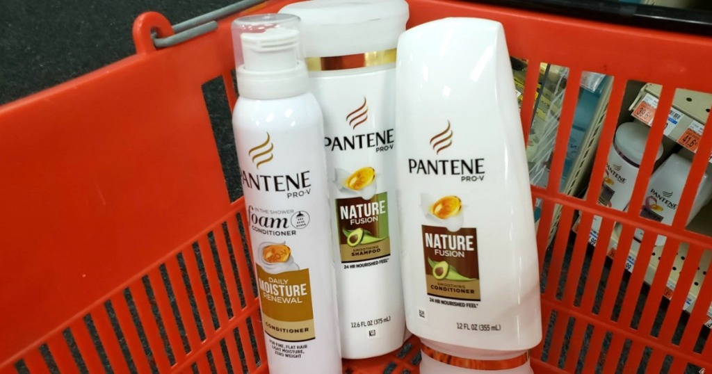 pantene products in CVS basket