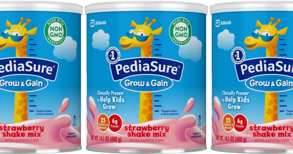 pedia sure grow and gain strawberry 3 count powder