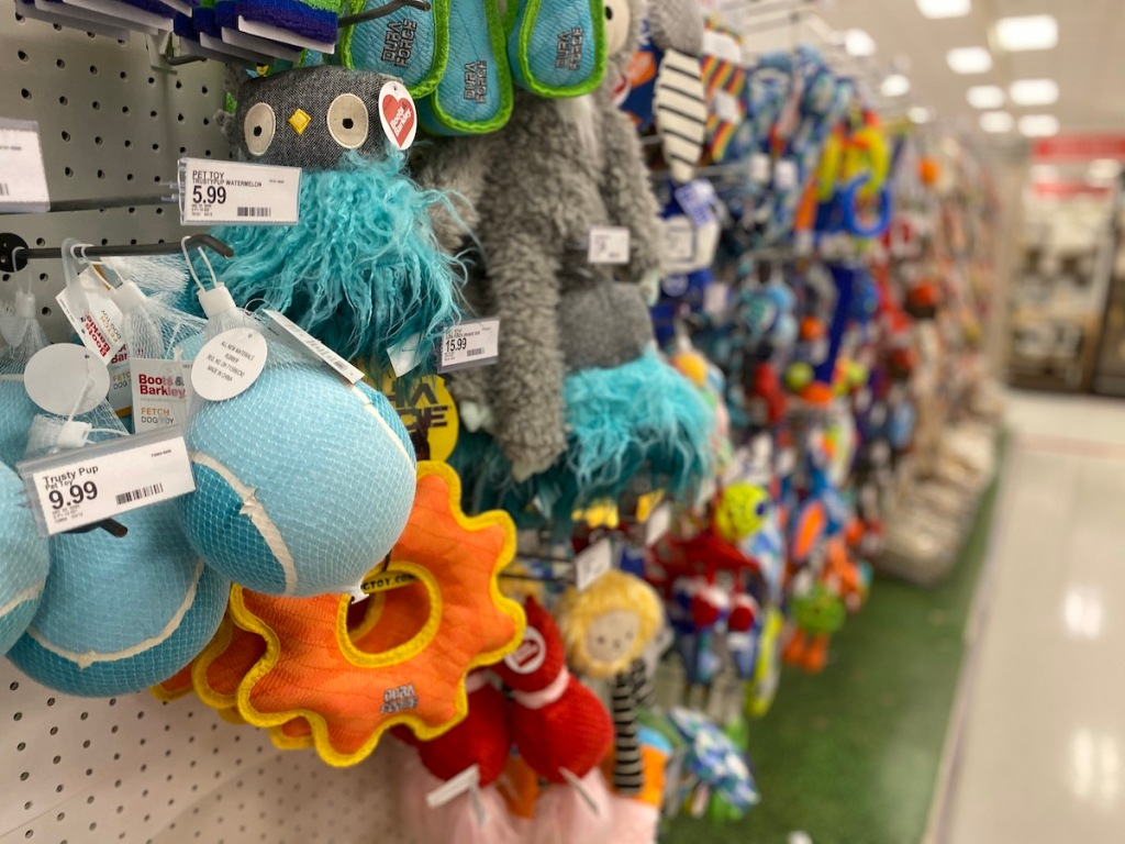 assorted dyson pet toys at target