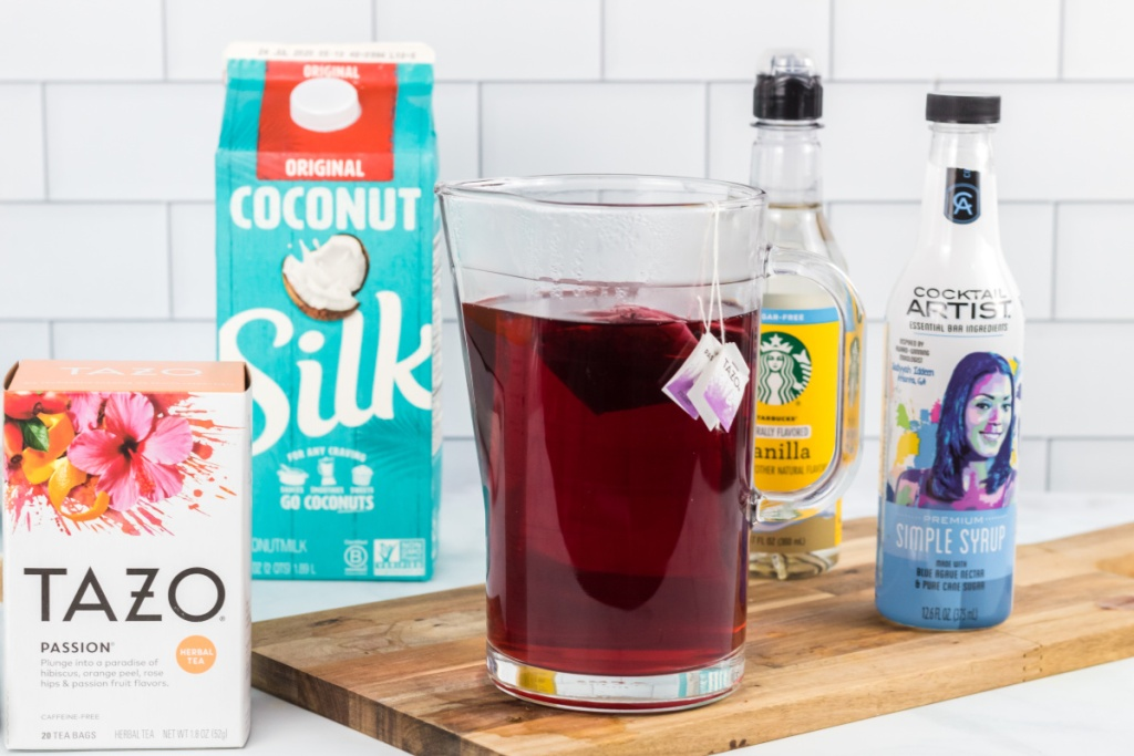 ingredients for copycat pink drink