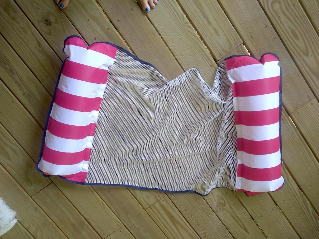 hammock pool float on deck