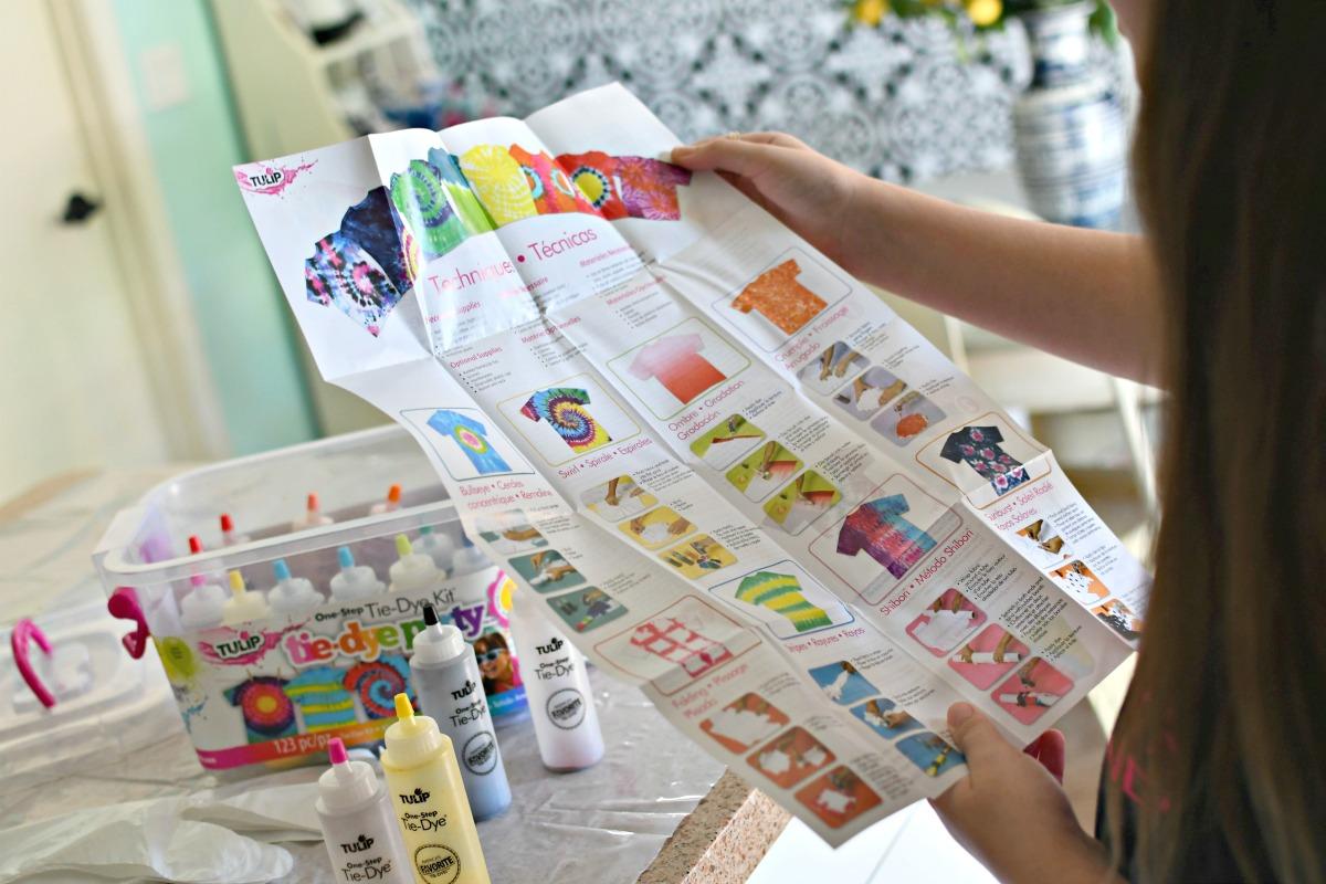 tie-dye instructions on tulip kit