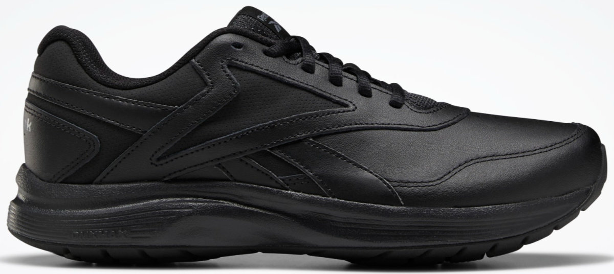 black reebok shoes and black sole