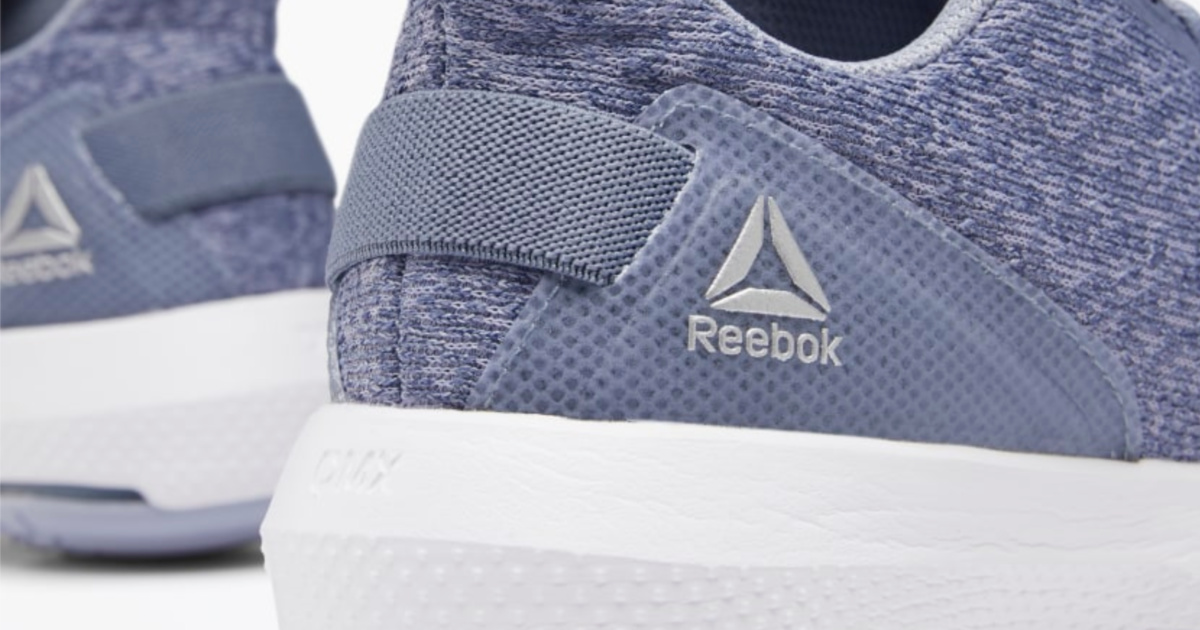 back of reebok shoes with white reebok logo and white soles