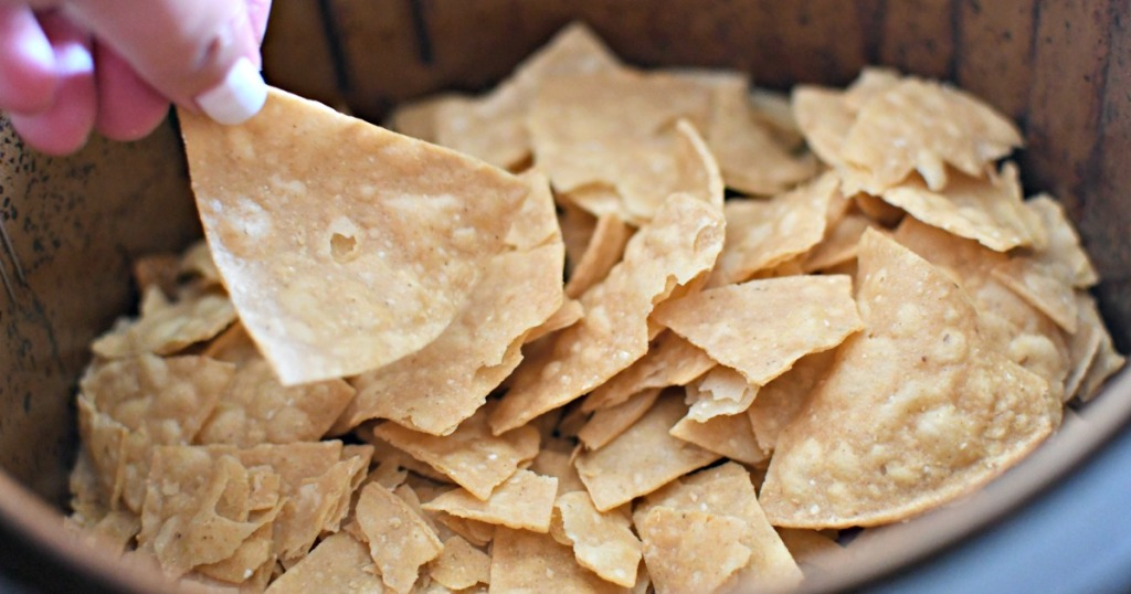 reheated tortilla chips in air fryer