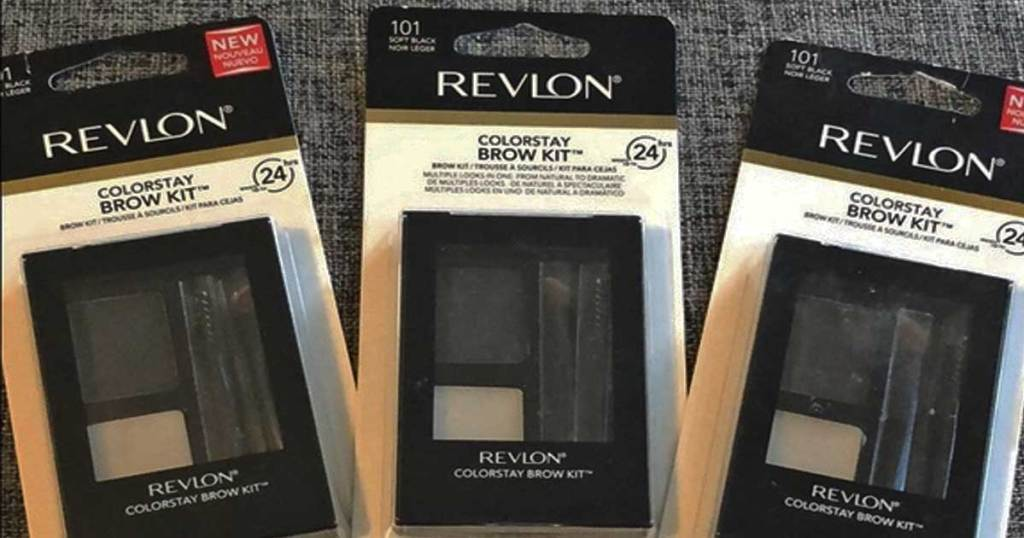 revlon colorstay brow kit in soft black on a table