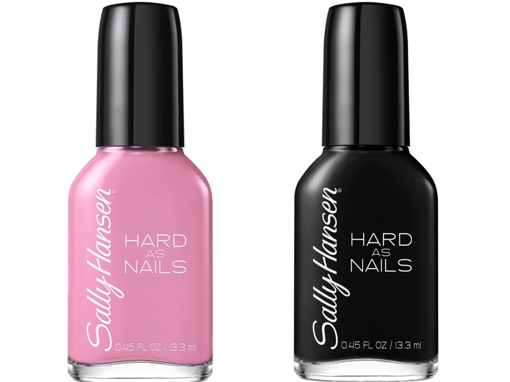 sally hansen pink and black hard as nails nail polish