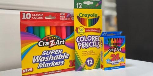 Cra-Z-Art Super Washable Broadline Markers 10-Pack Only 50¢ at Walmart