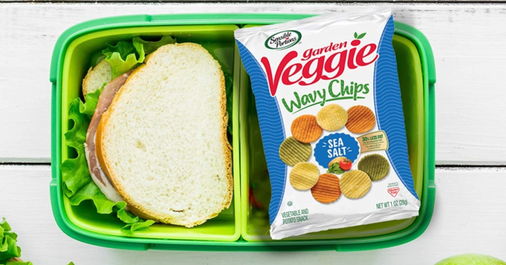 sensible portions wavy chips in lunchbox