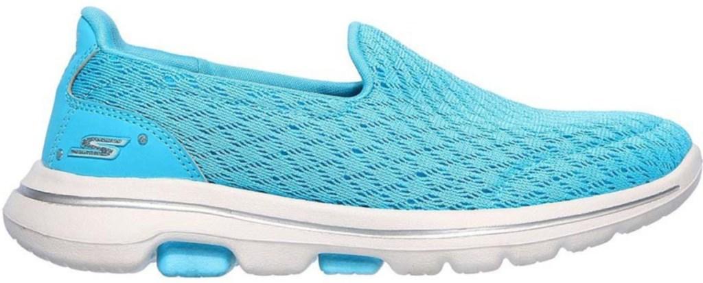 blue skechers slip on shoes