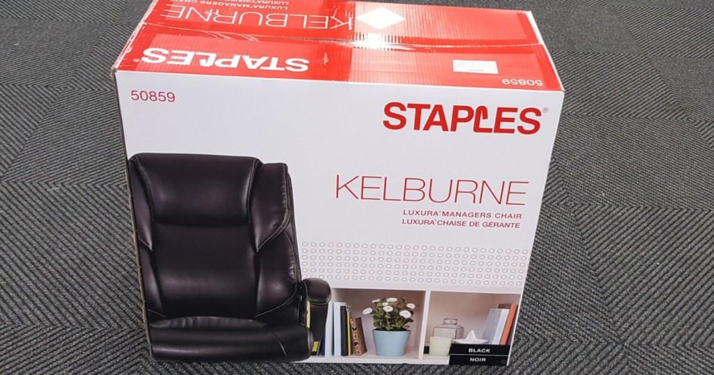 Staples Kelburne office chair box