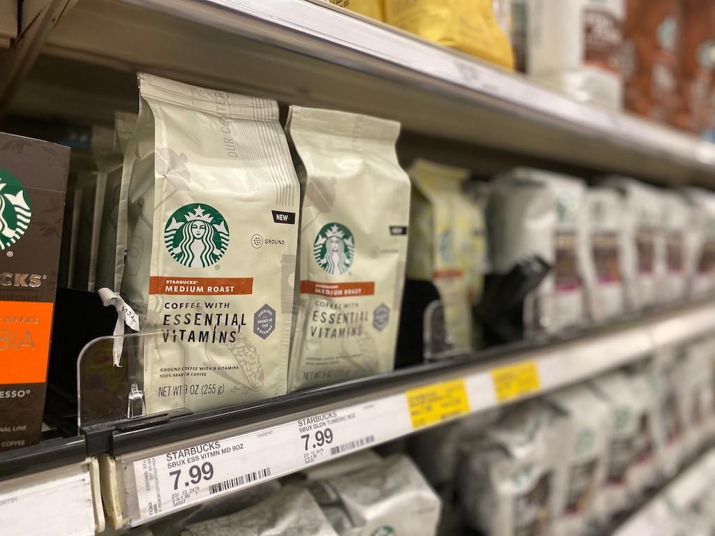 Starbucks coffee on shelf at Target