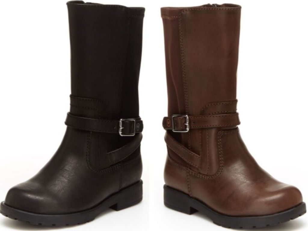 two kids leather boots