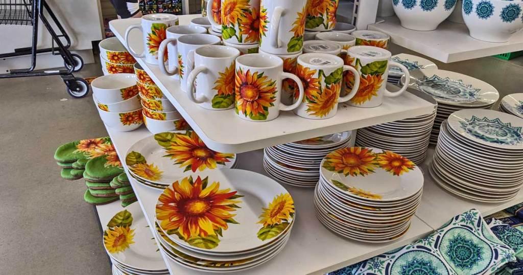 Sunflower Dishes