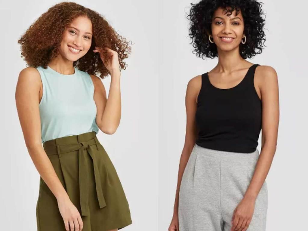 models wearing tank tops