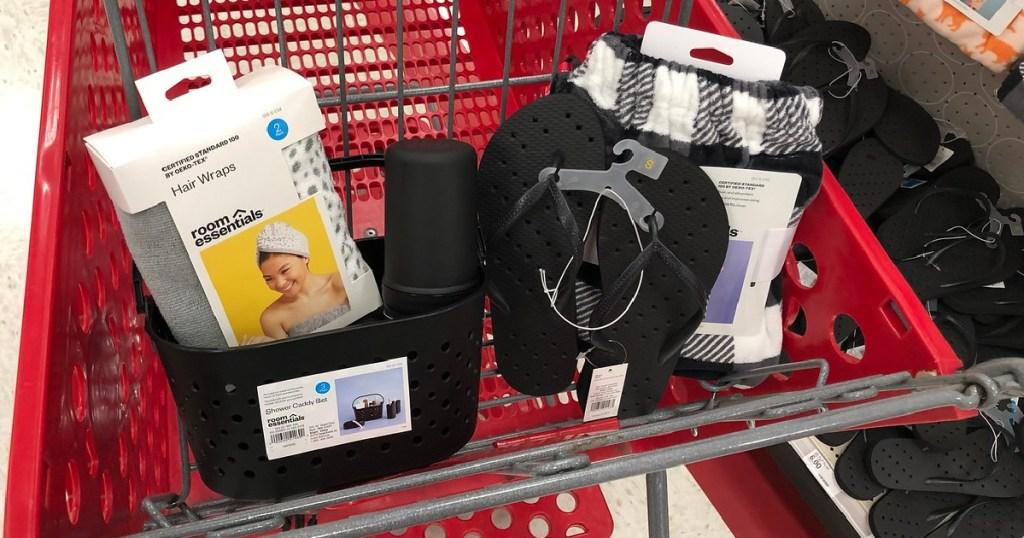 dorm items in target cart