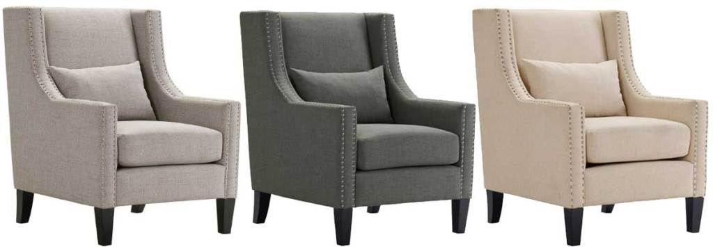 arm chair chairs in three colors stock images