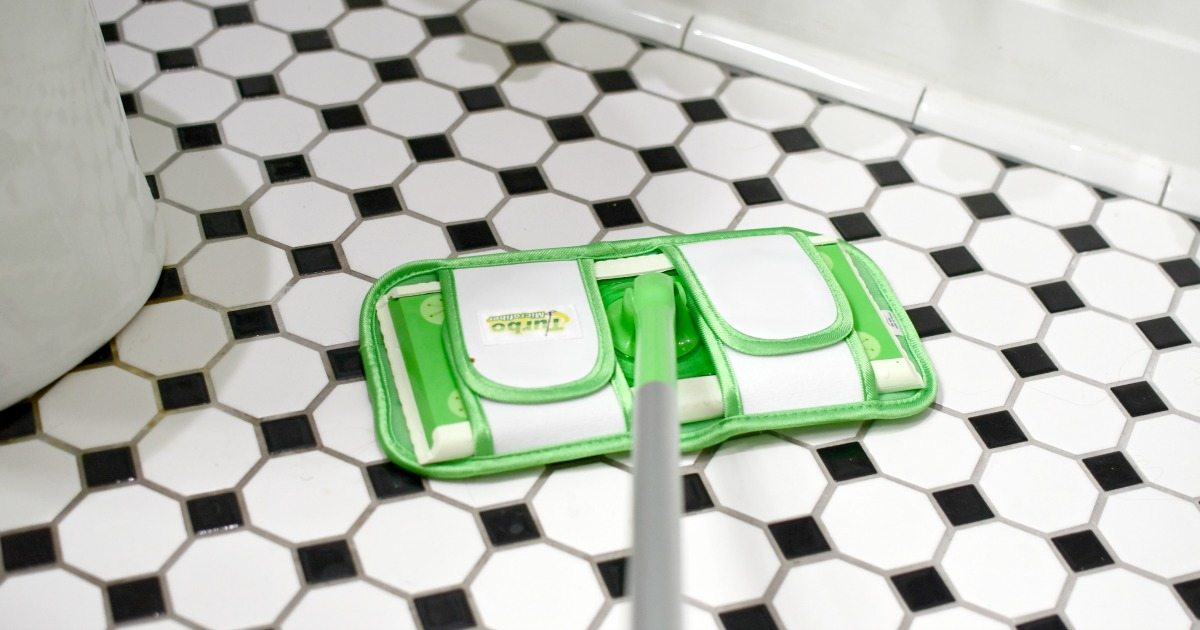 turbo microfiber pad on tile