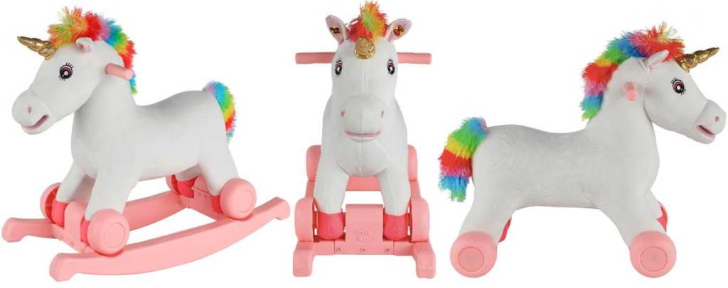 2 in 1 unicorn riding toy for kids stock image