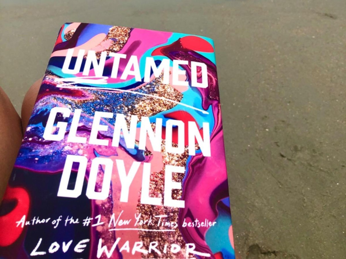 Untamed book on the beach