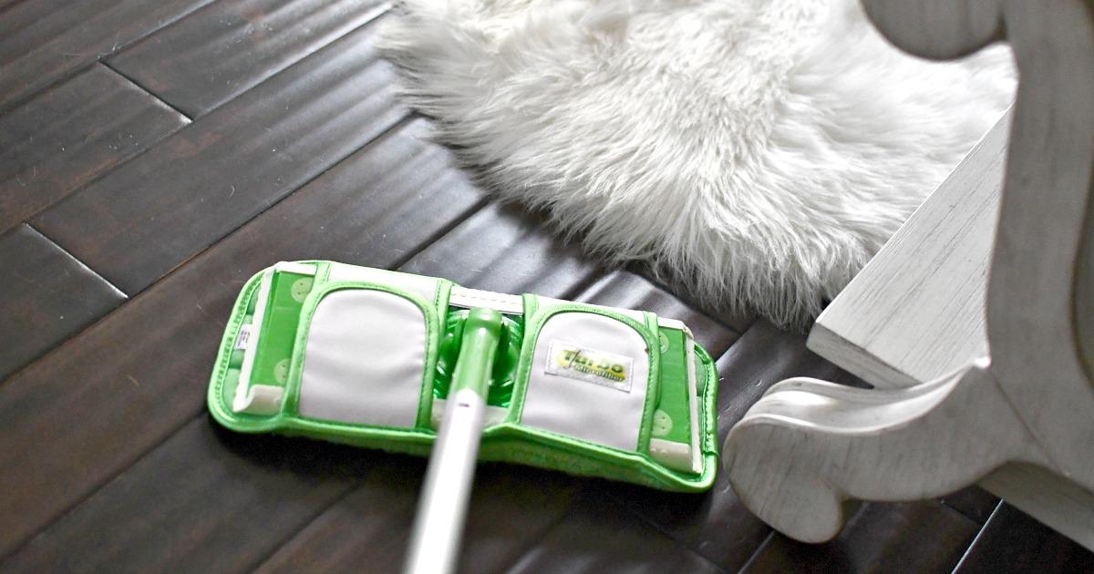 using swiffer turbo pads on hardwood flooring