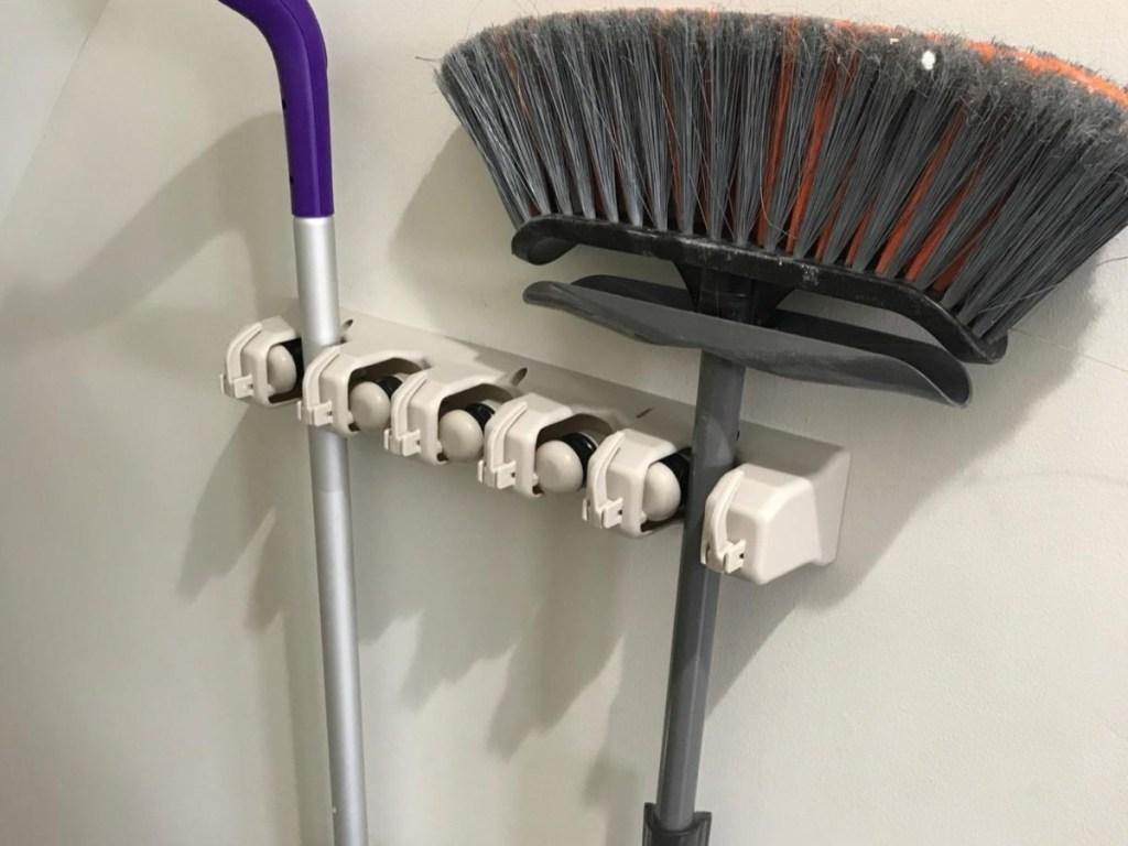 wall-mounted broom holder