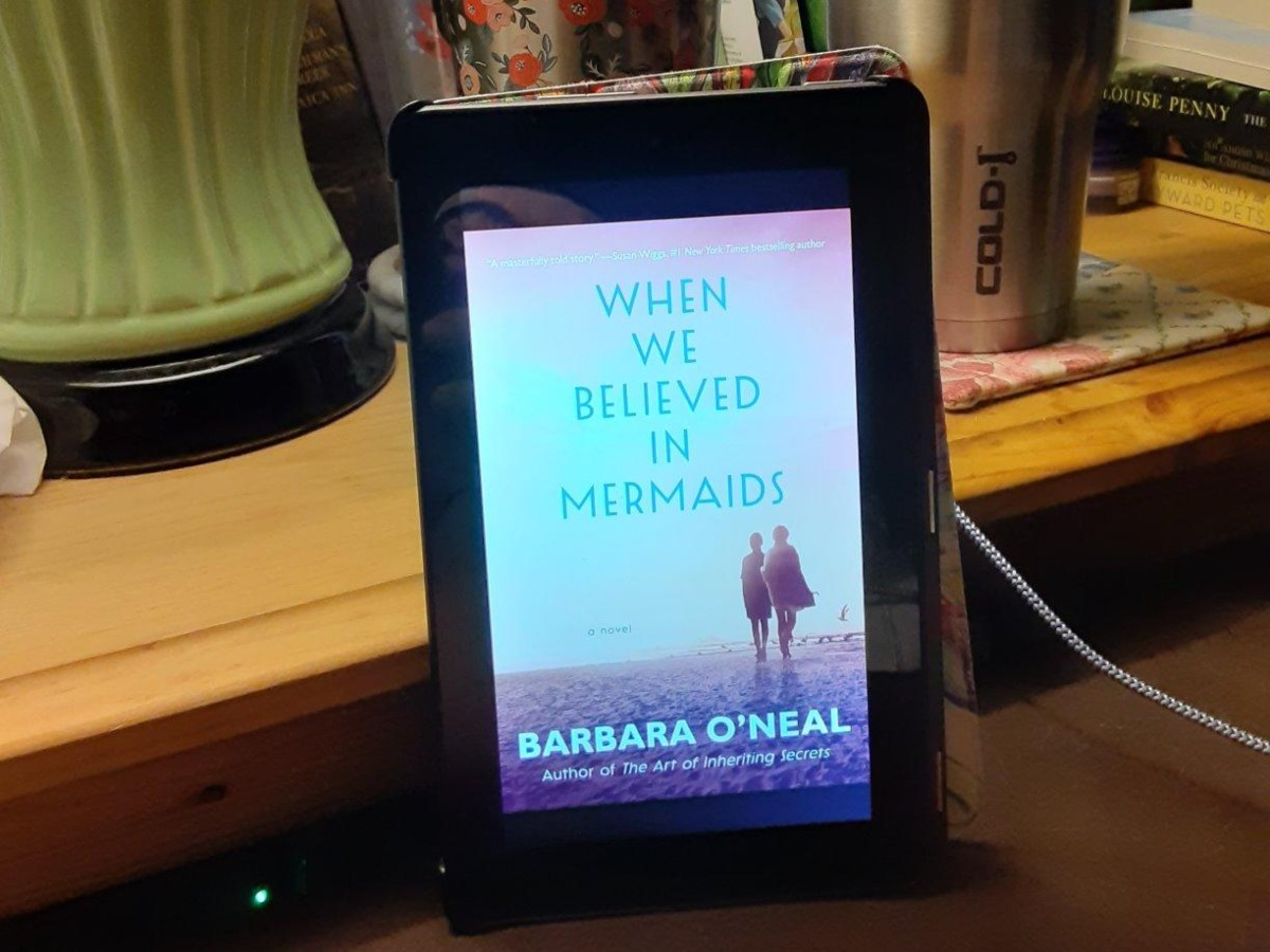 When We Believed in Mermaids book cover on Kindle screen