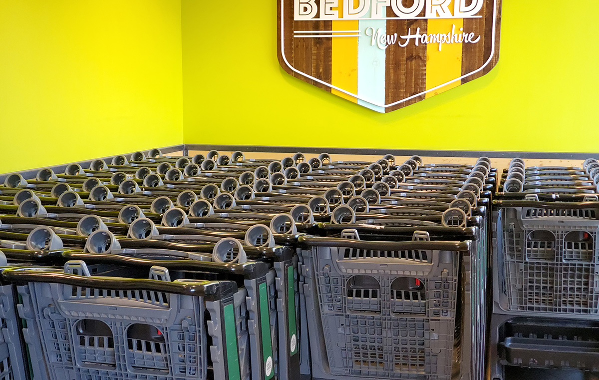 shopping carts at bedford whole foods