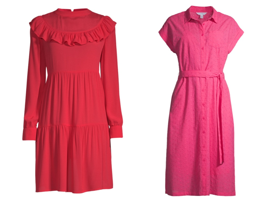 red and pink time and tru dress (2)