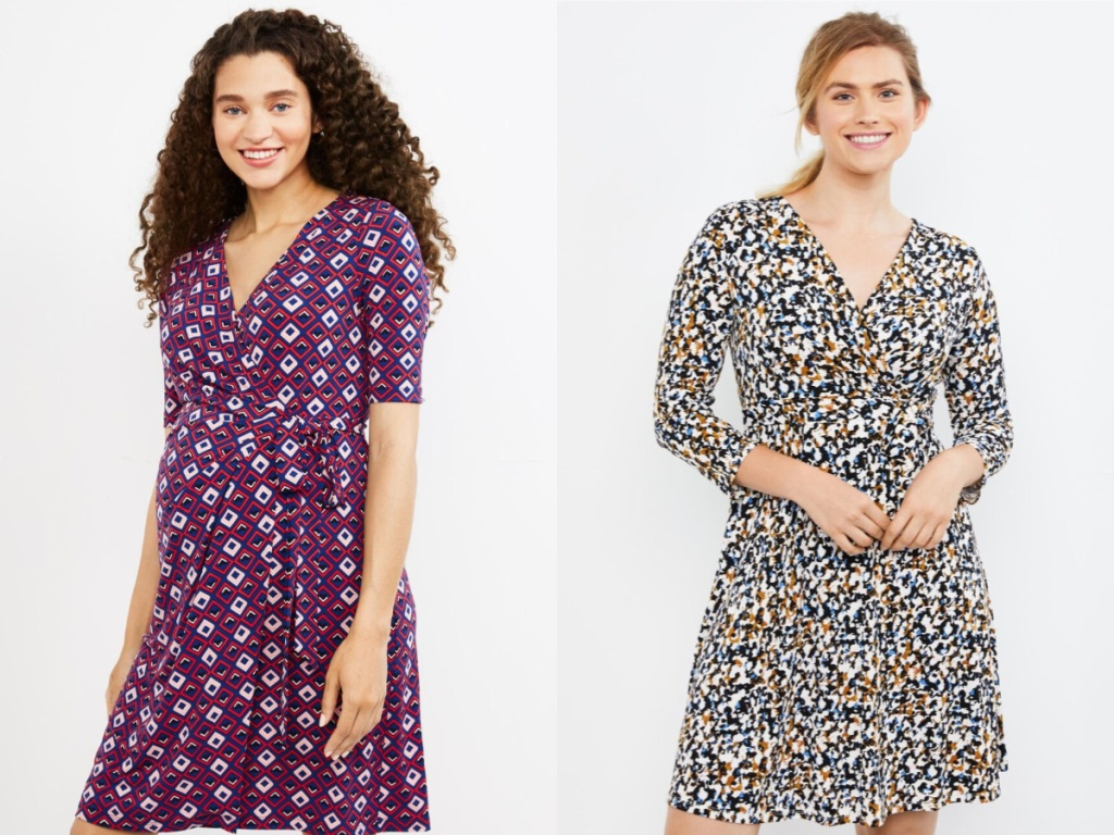 women wearing maternity dresses