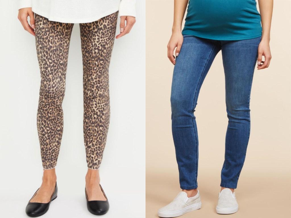 women wearing maternity pants