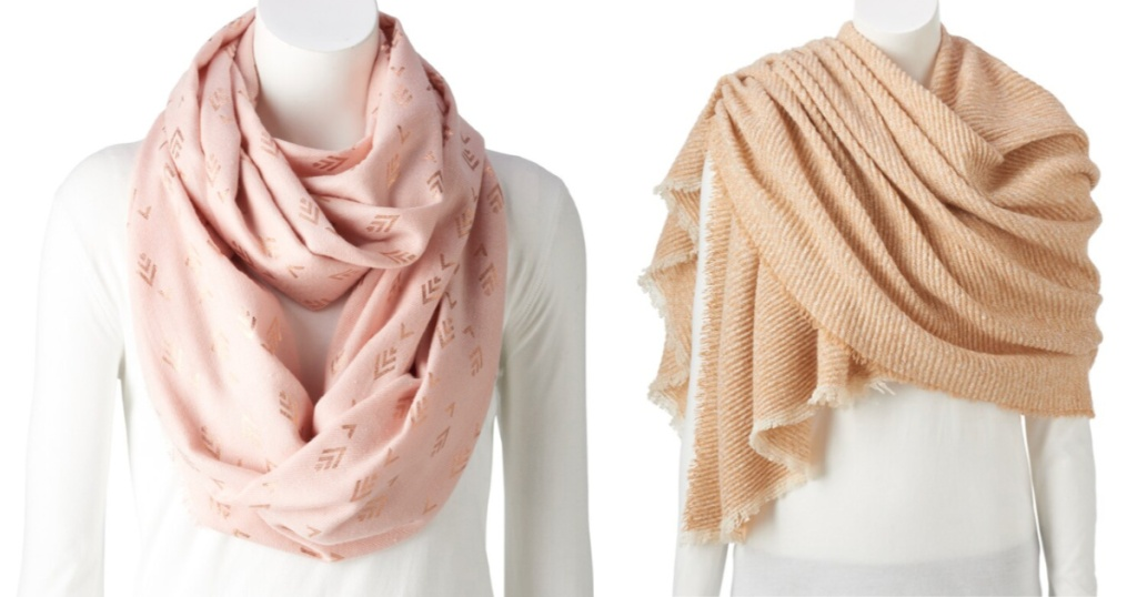 pink and brown women's wraps
