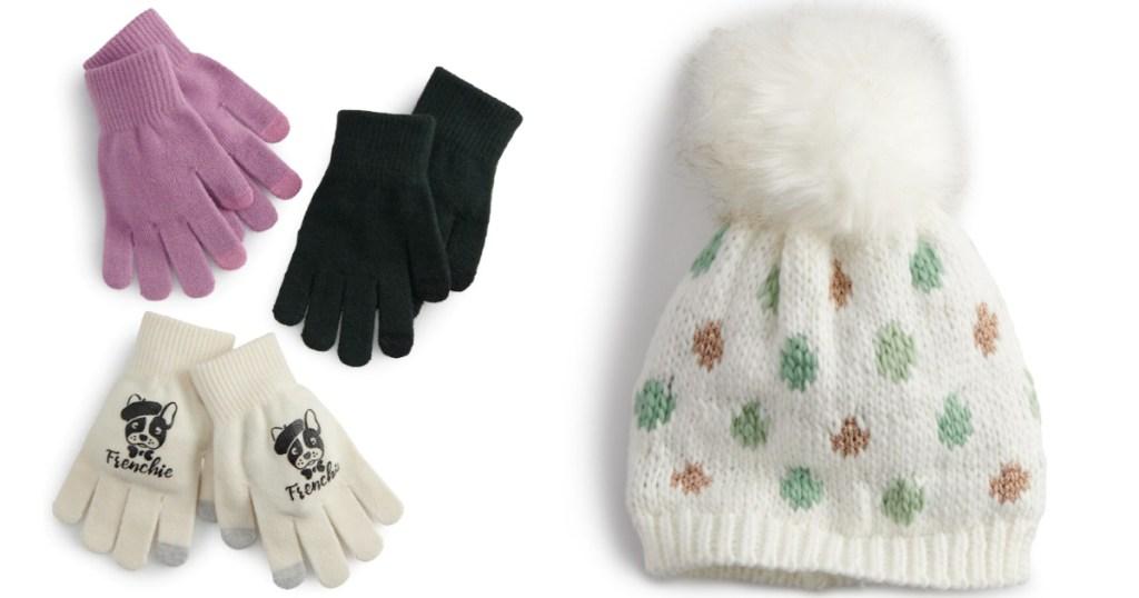 womens gloves and beanie