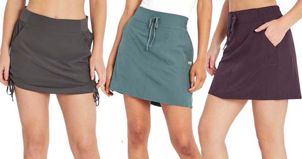 models wearing marika skorts