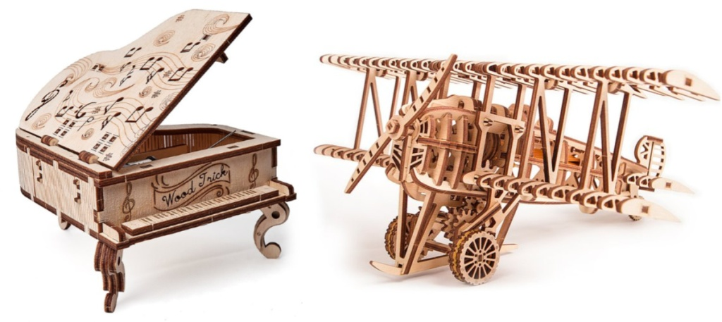 3d grand piano and airplane puzzles