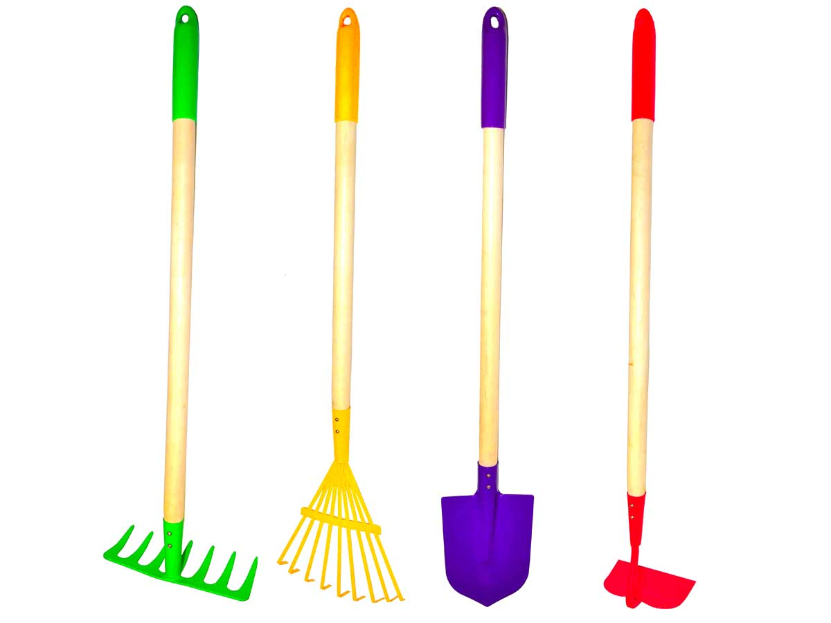 four garden tools for kids