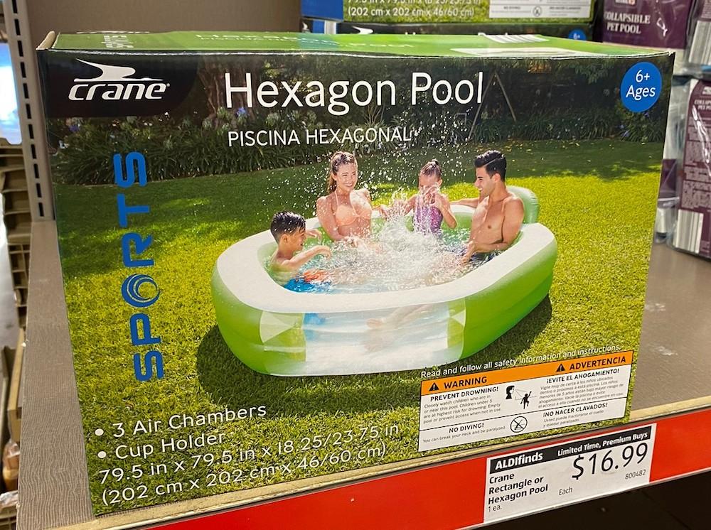 Hexagon Pool on store shelf